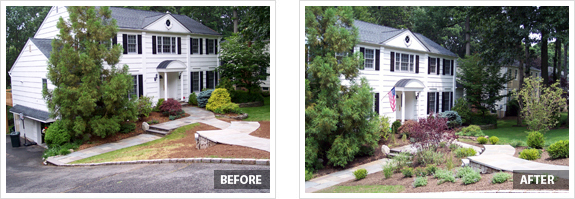 Front yard landscaping before and after pdf for Garden design ideas before and after